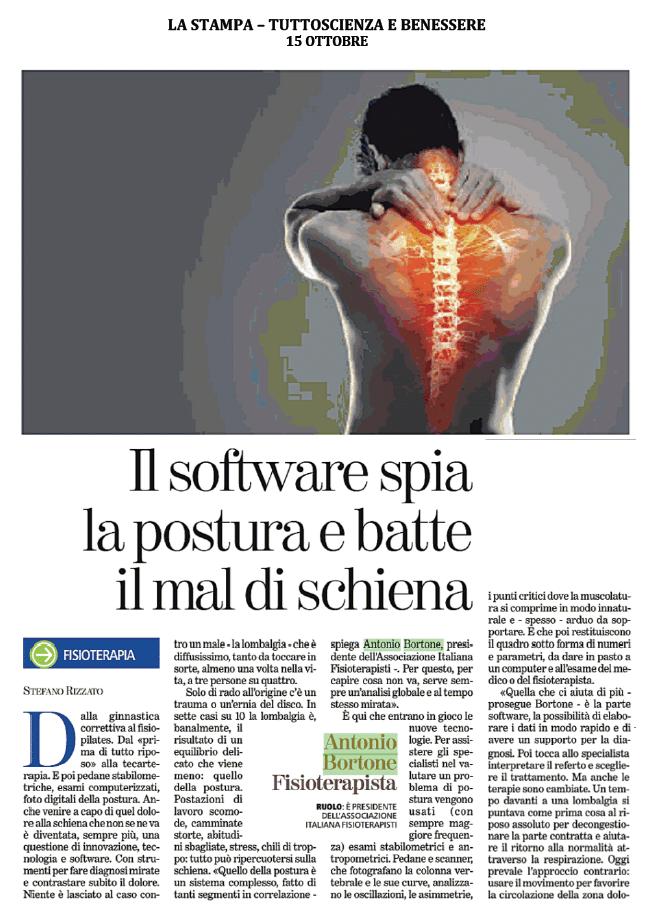 Il software spia la postura e batte il mal di schiena