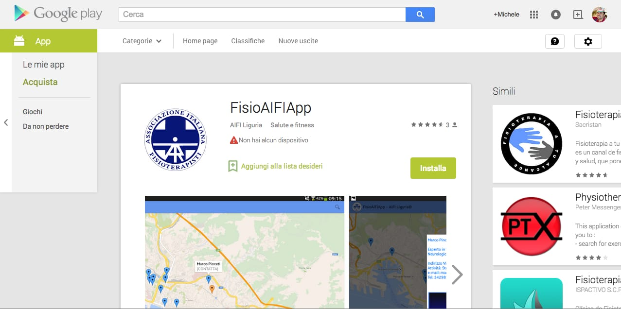 FisioAIFIApp ufficialmente disponibile su Google Play