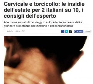 Cervicale e torcicollo: le insidie dell'estate per 2 italiani su 10, i consigli dell'esperto 2015-07-17 17-44-45