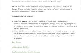 """La Petizione AIFI su """"Quellichelafarmacia"""""""