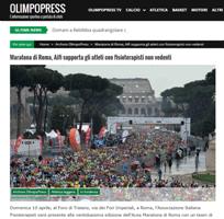 Maratona di Roma, Aifi supporta gli atleti con fisioterapisti non vedenti