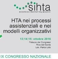 9° Congresso Nazionale SIHTA: invio abstract