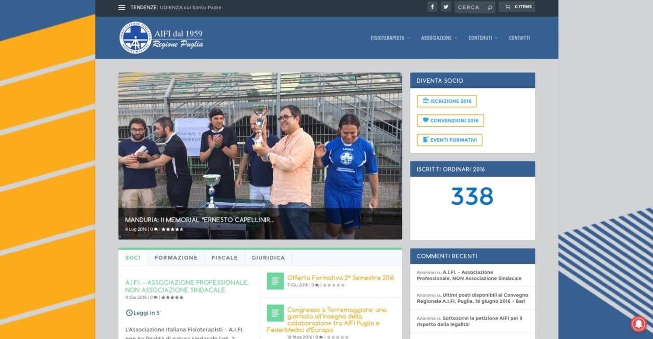 On line il nuovo sito AIFI regione Puglia
