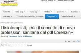 I fisioterapisti, «Via il concetto di nuove professioni sanitarie dal ddl Lorenzin»