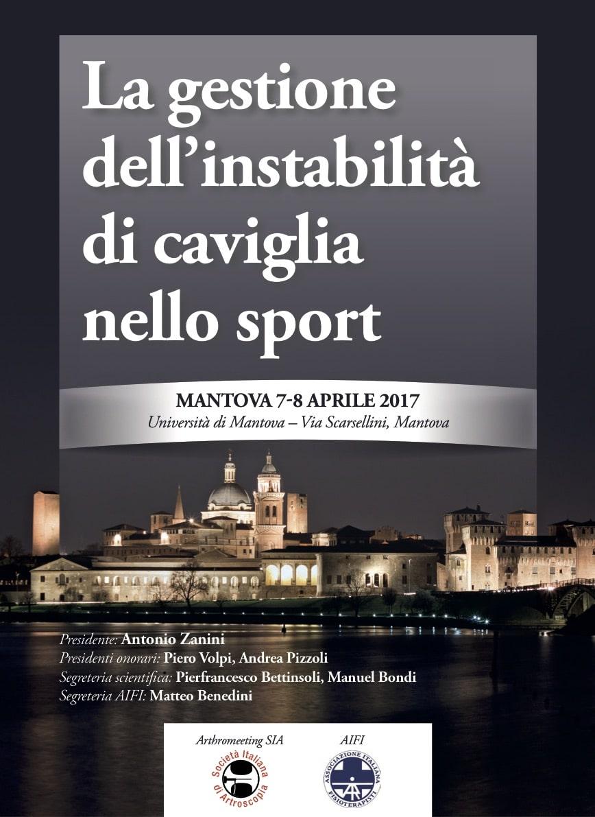"""A Mantova il Congresso più importante dell'anno sul tema """"La gestione dell'instabilità di caviglia nello sport"""""""