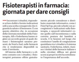 Il giornale di Sicilia federfarma e AIFI