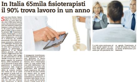 In Italia 65mila fisioterapisti il 90% trova lavoro in un anno