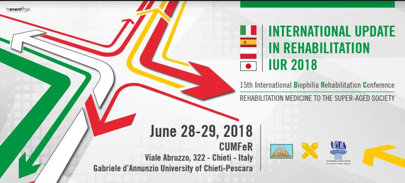 "Congresso ""International Update in Rehabilitation IUR 2018: Rehabilitation Medicine to the super-aged society"""
