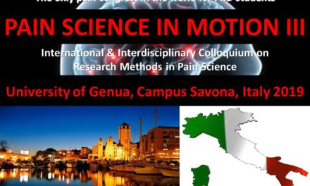 PAIN SCIENCE IN MOTION III – International and Interdisciplinary Colloquium on Research Methods in Pain Sciences
