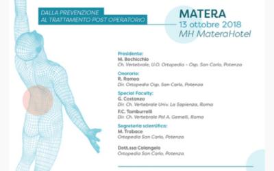 """Convegno """"Patologia del rachide lombare dalla prevenzione al trattamento post operatorio"""""""