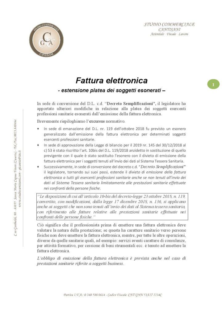 Aggiornamento fattura elettronica pdf