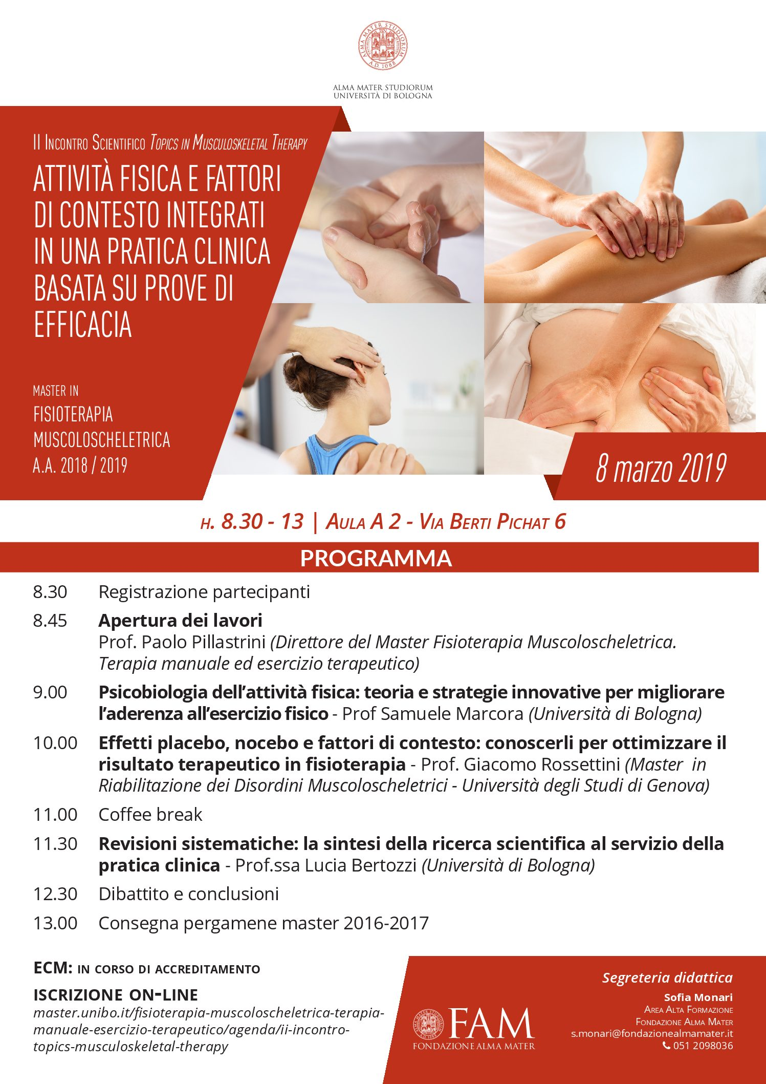 II Incontro Scientifico Topics in Musculoskeletal Therapy