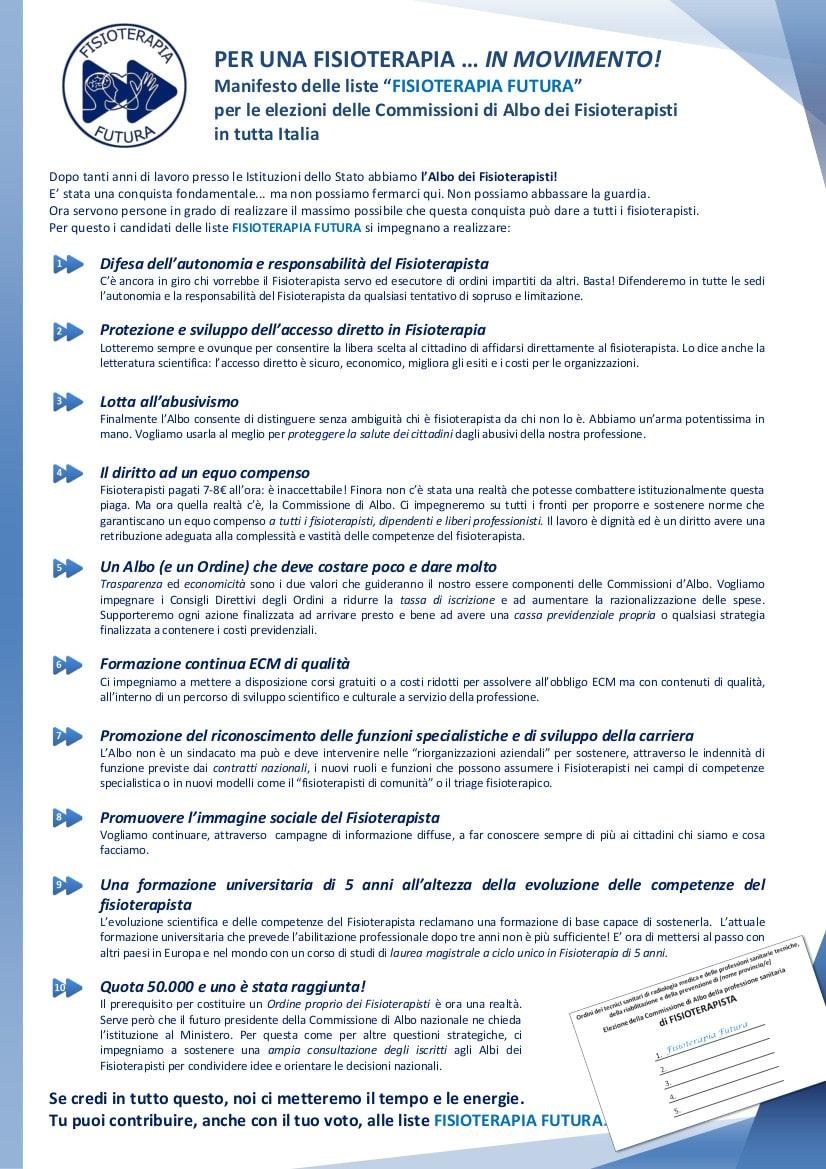 Manifesto Fisioterapia Futura