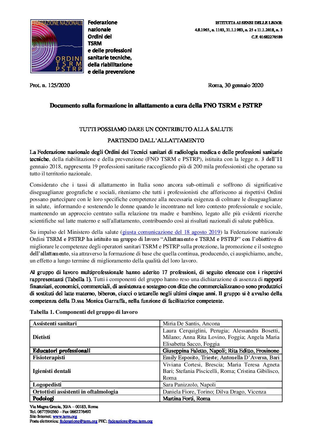 FNO TSRM e PSTRP Allattamento Definitivo con conclusioni pdf
