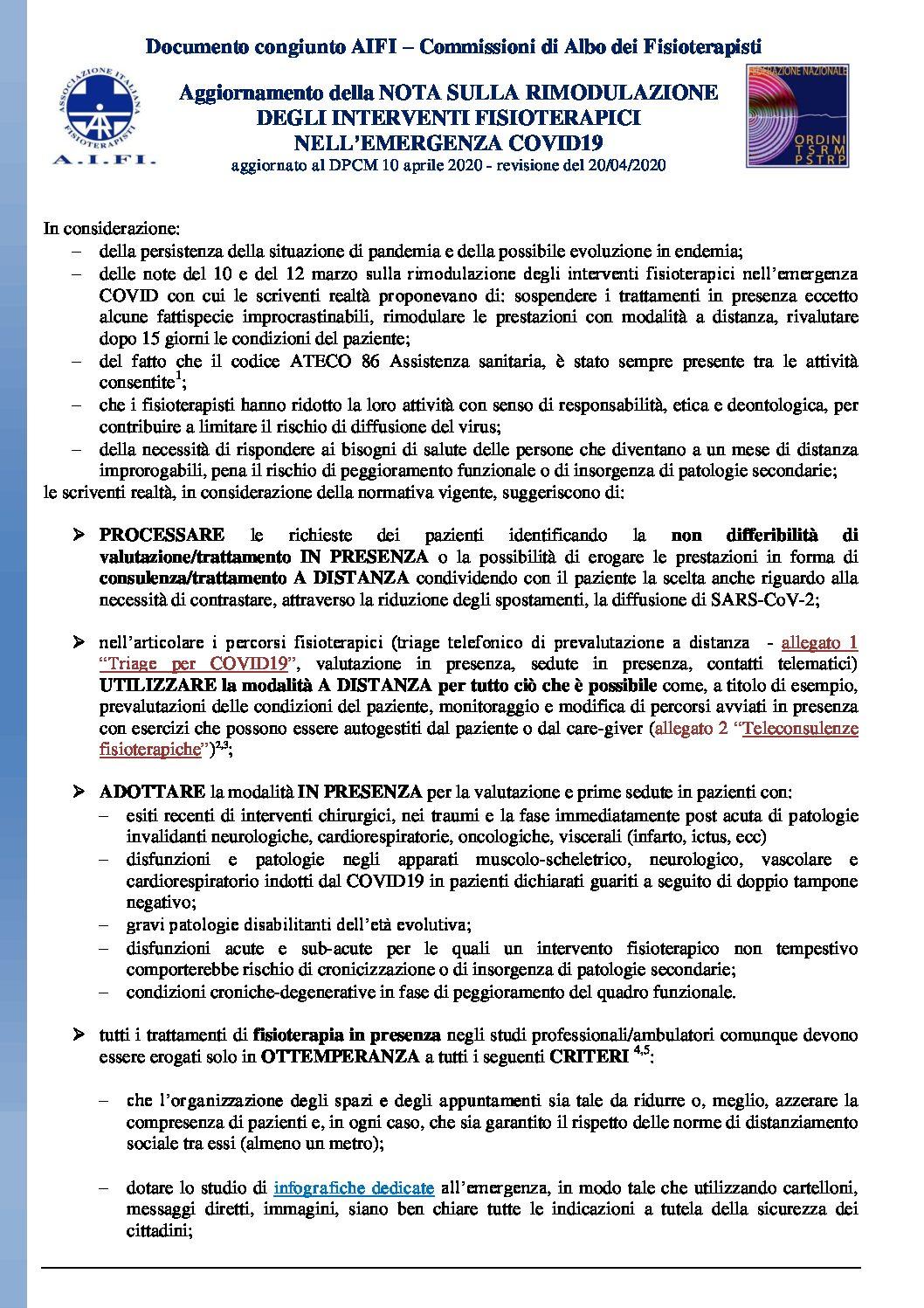 Aggiornamento rimodulazione interventi FT CDAFT AIFI 20 04 2020 finale pdf