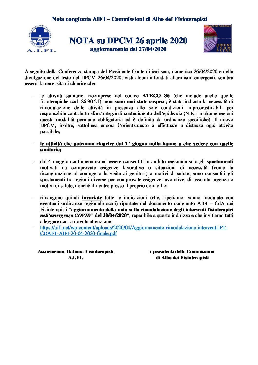 NOTA SU DPCM 26 04 20 pdf