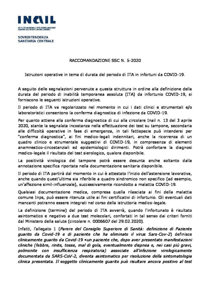 raccomandazione 5 pdf
