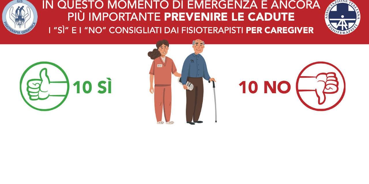 La prevenzione delle cadute nell'anziano anche in emergenza COVID-19