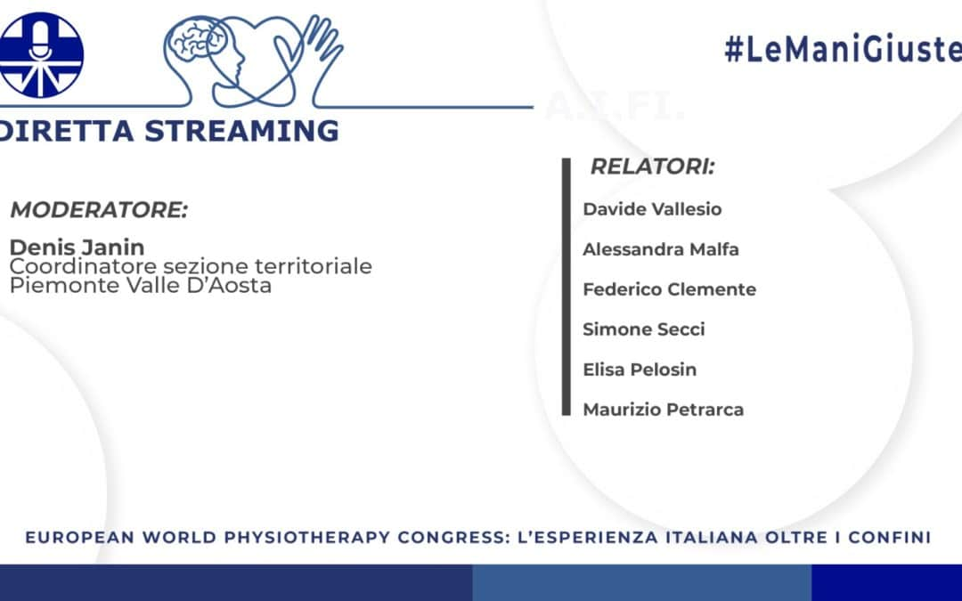 European World Physiotherapy Congress: l'esperienza italiana, seconda parte