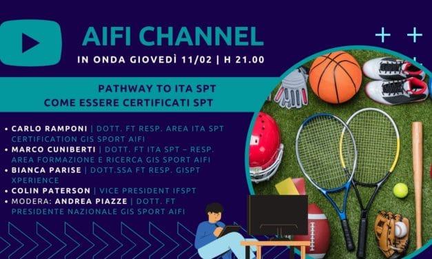 AIFI Channel: La certificazione ITA SPT in onda l'11/2