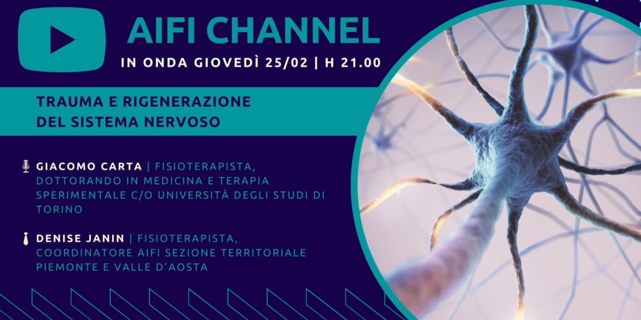 AIFI Channel: neuropatie da trauma e fisioterapia in onda il 25/02