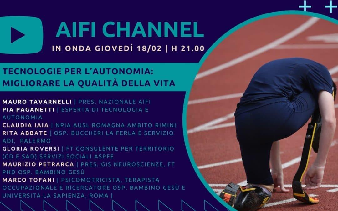 AIFI Channel: le tecnologie per l'autonomia in onda il 18/2