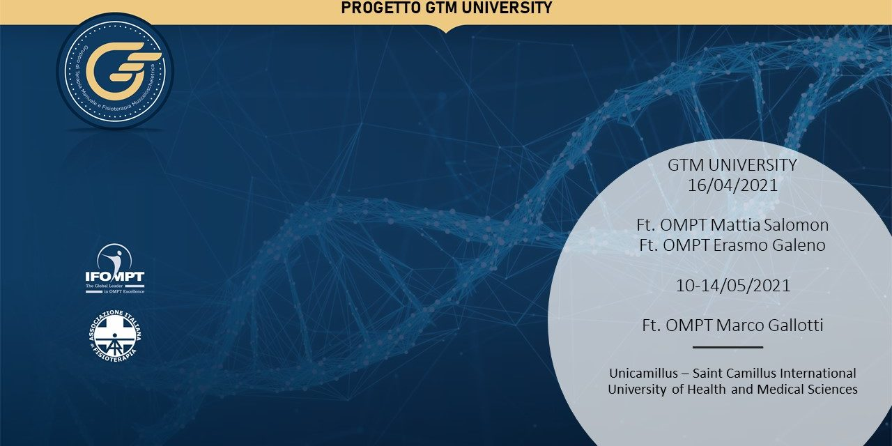 GTM UNIVERSITY: L'incontro del Gruppo di Terapia manuale dedicato agli studenti approda nelle Università del Lazio