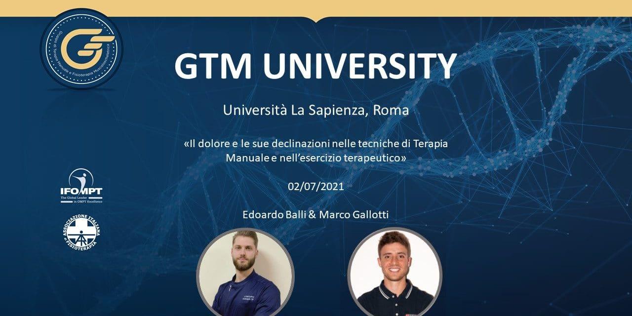 GTM UNIVERSITY La Sapienza Roma