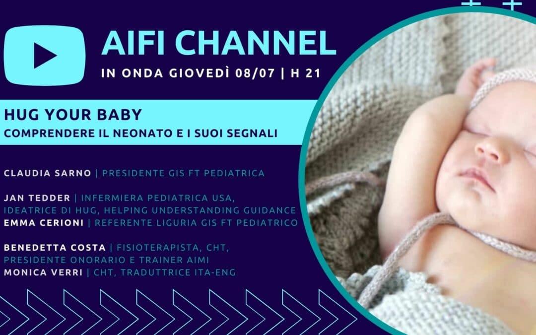 HUG your baby: 8 luglio appuntamento su AIFI Channel con il GIS Pediatrico
