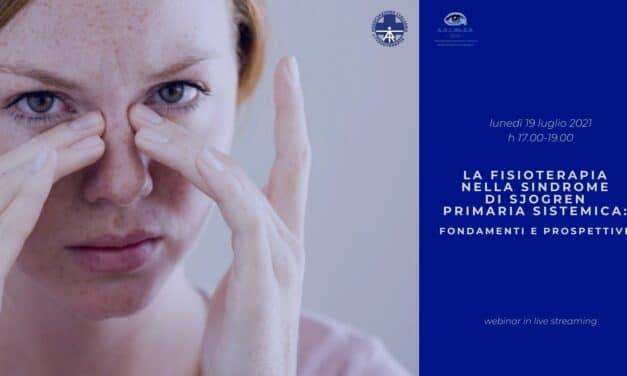 Fisioterapia e Sindrome di Sjögren: appuntamento in webinar il 19/07