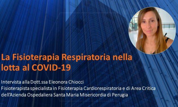 La Fisioterapia nella lotta al COVID-19 – Intervista ad una fisioterapista respiratoria dell'Azienda Ospedaliera di Perugia